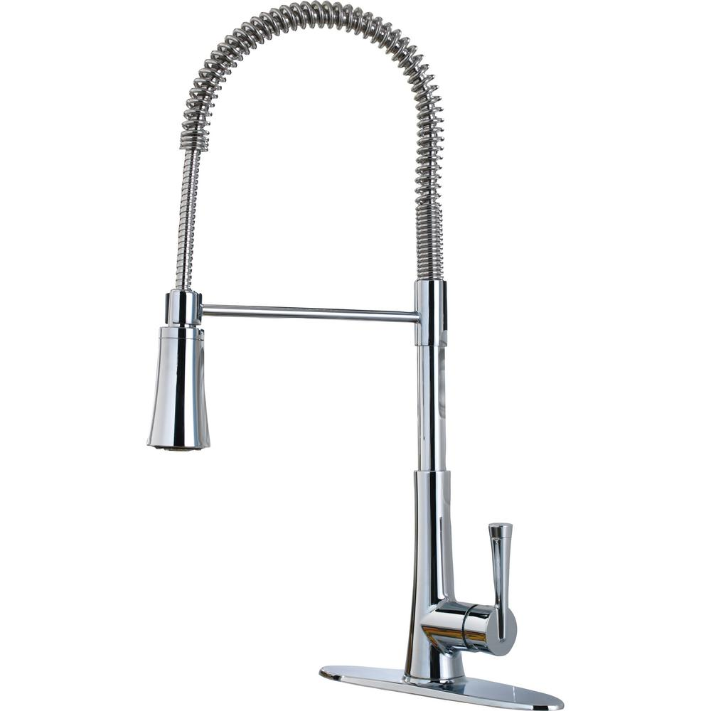 Zuri Culinary Single-Handle Pull-Down Sprayer Kitchen Faucet in Polished Chrome