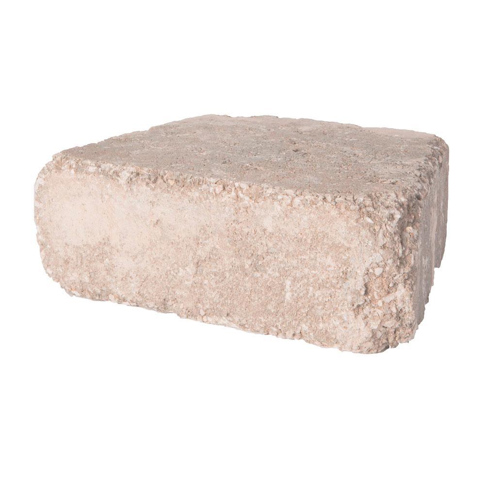RumbleStone Trap 10.25 in.x 7 in.x 3.5 in. Café Concrete Garden Wall Block (120 Pcs / 29.9 Face ft. / Pallet)