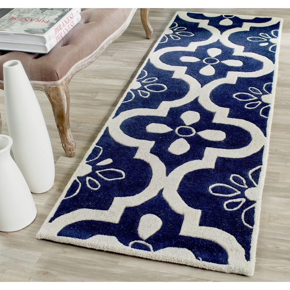 Chatham Dark Blue/Ivory 2 ft. 3 in. x 7 ft. Runner