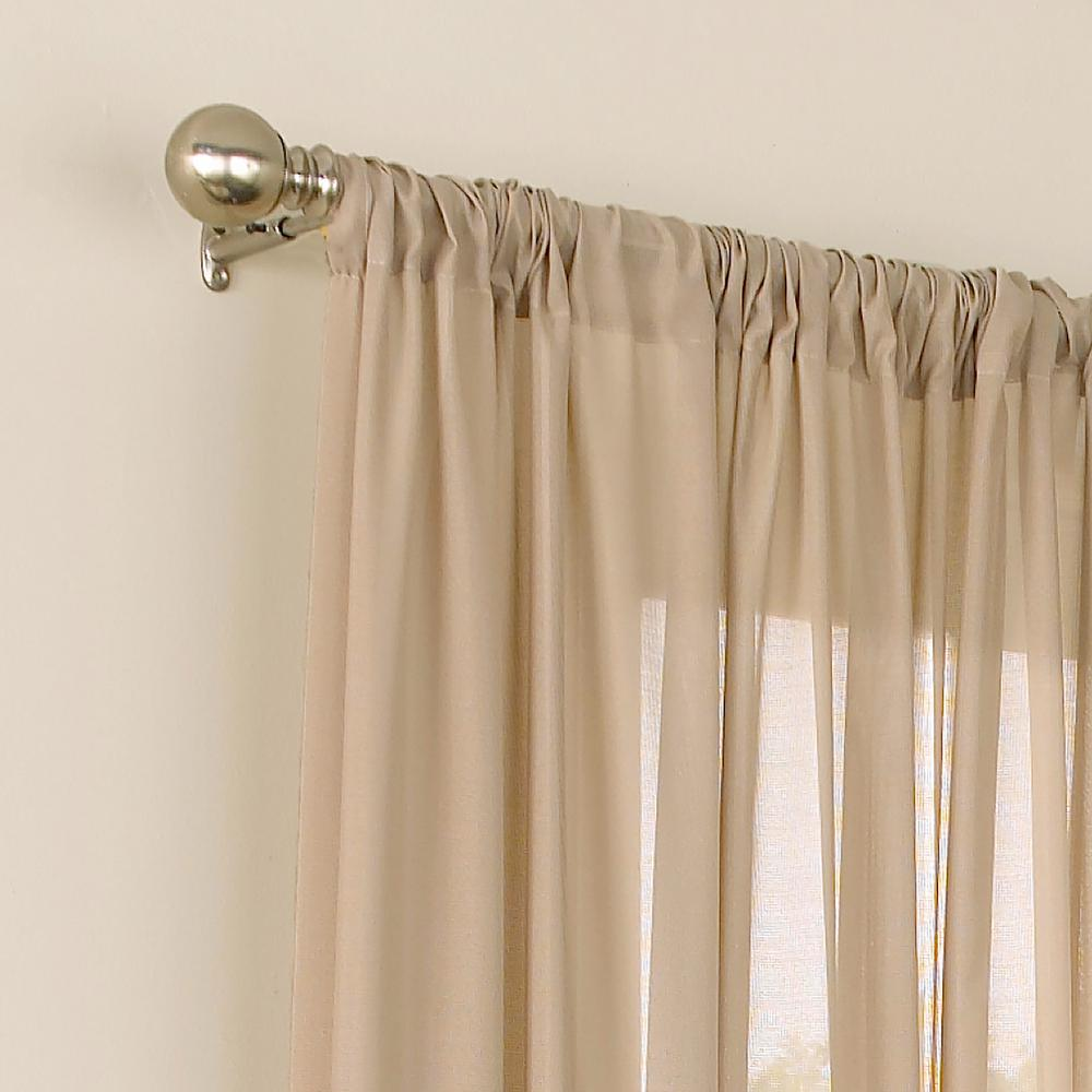 52 in. Eclipse Chelsea UV Light Filtering Sheer Window Curtain Panel in White