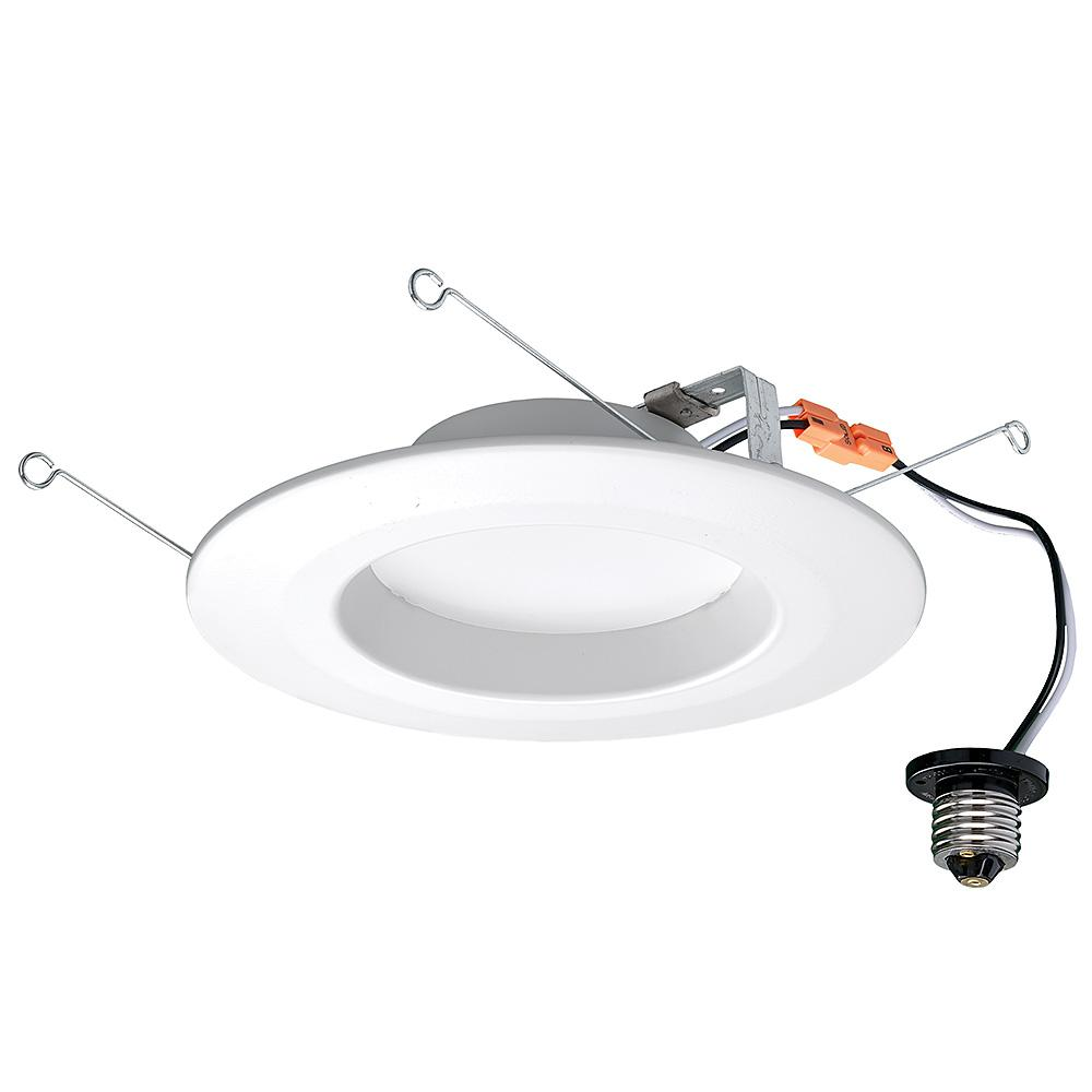 Commercial Electric 5in 6 In White Integrated Led