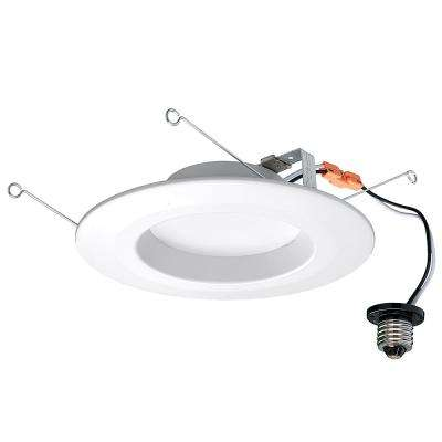 5 in. and 6 in. White Integrated LED Dimmable Recessed Trim