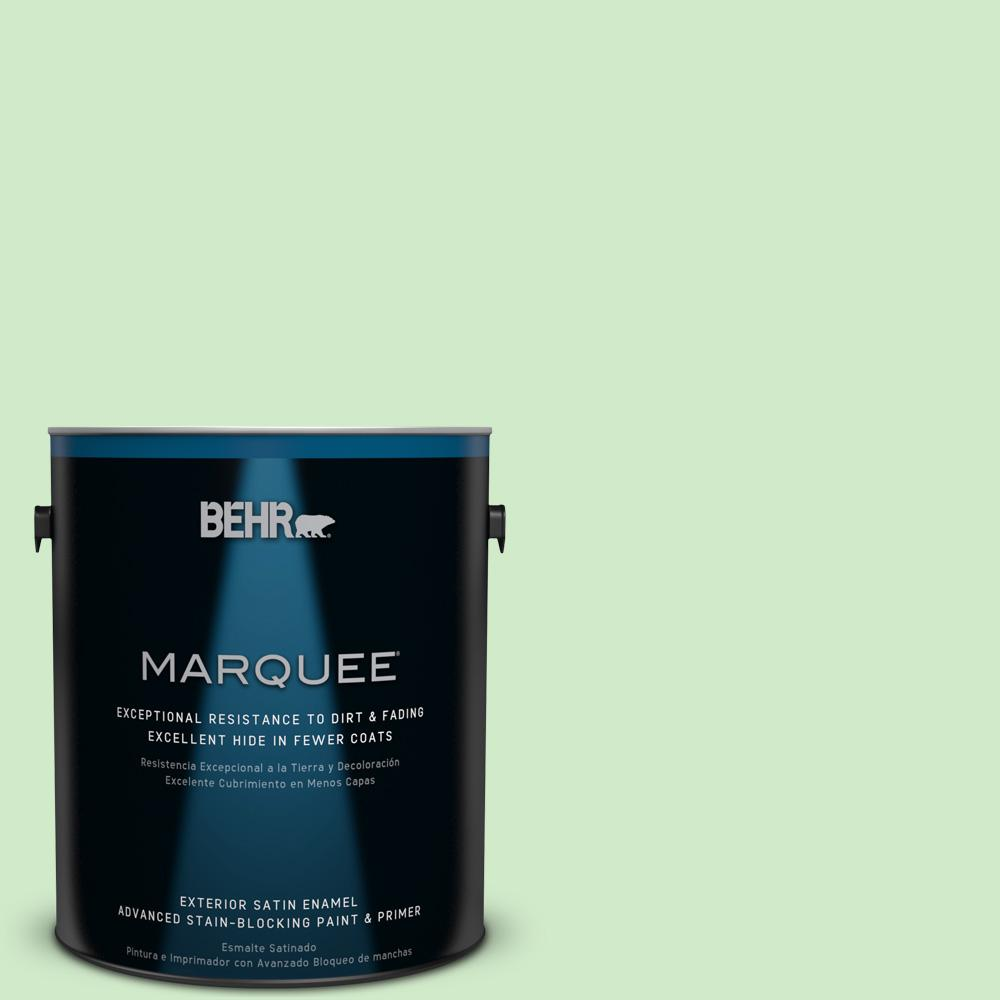 BEHR MARQUEE 1-gal. #440A-3 Mint Frappe Satin Enamel Exterior Paint
