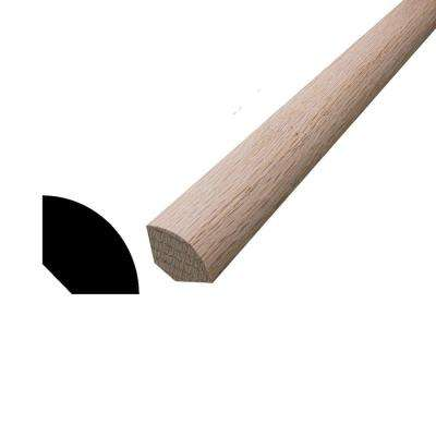 WM 106 11/16 in. x 11/16 in. x 96 in. Oak Quarter Round Moulding