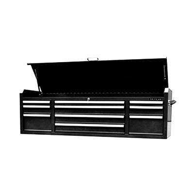 Economic 72 in.10-Drawer Top Tool Chest in Mat Black