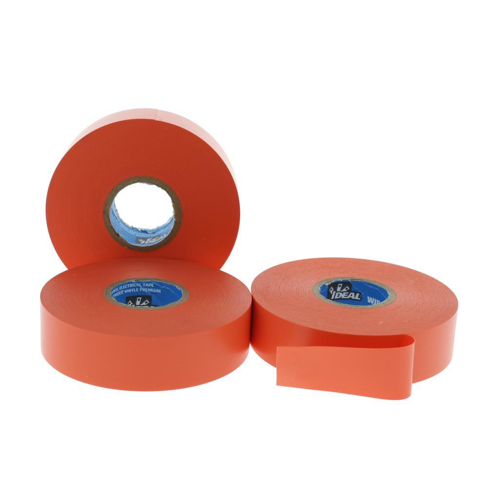 Wire Armour 3/4 in. x 66 ft. Premium Vinyl Tape, Orange (10-Pack)