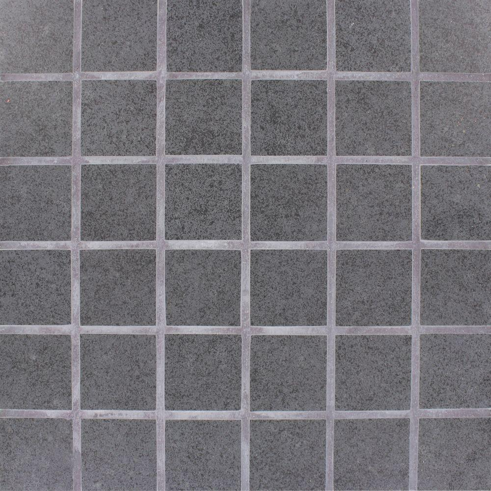 Black mosaic tile tile the home depot beton dailygadgetfo Image collections