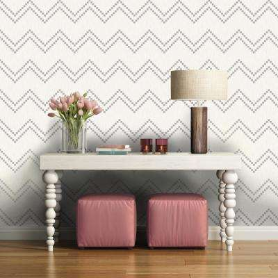 Repeel Removable Woodgrain Chevron Wallpaper