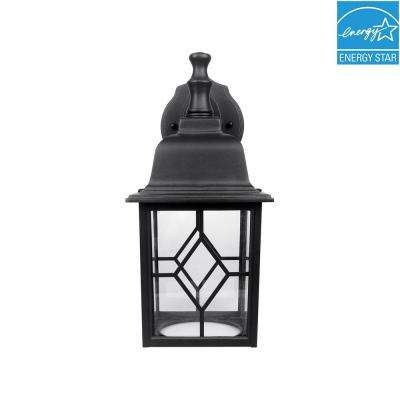 Matte Black Outdoor Integrated LED Wall Mount Lantern
