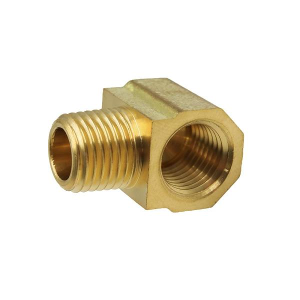 1/4 in. MIP x 1/4 in. FIP 90-Degree Brass Street Elbow Fitting