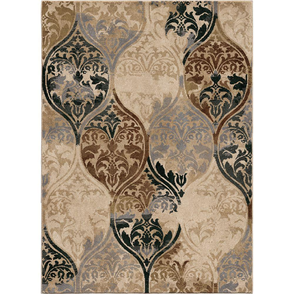 Orian Rugs Human Resources: Orian Rugs Classical Realm White 7 Ft. 10 In. X 10 Ft. 10