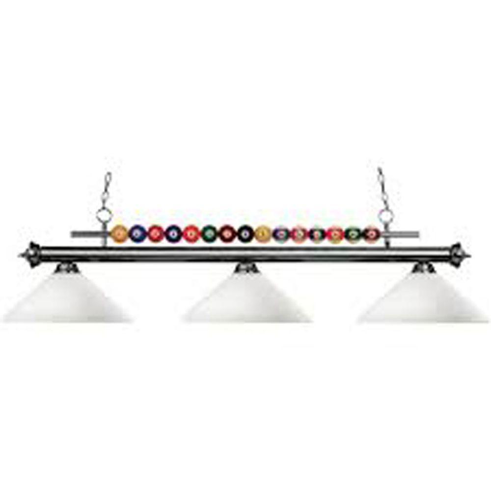 Filament Design Lawrence 3-Light Gun Metal Incandescent Ceiling Island Light
