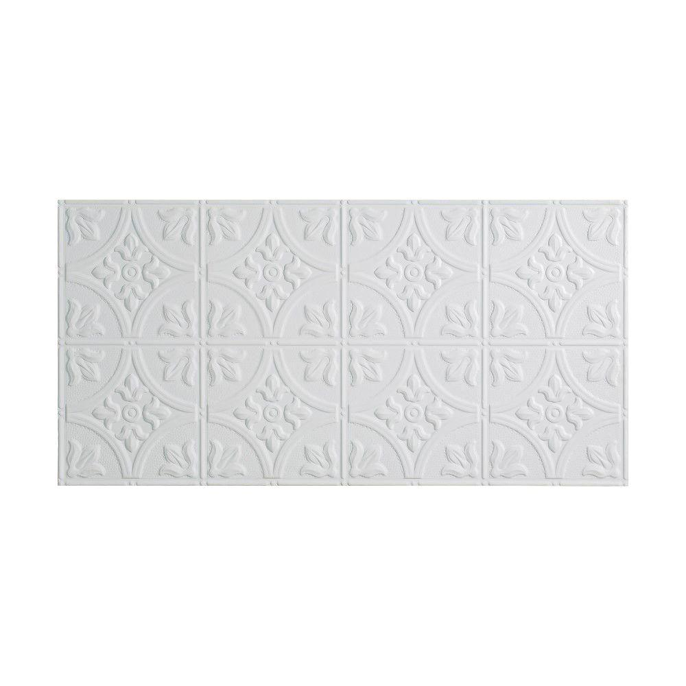 fasade traditional 2 - 2 ft. x 4 ft. glue-up ceiling tile in