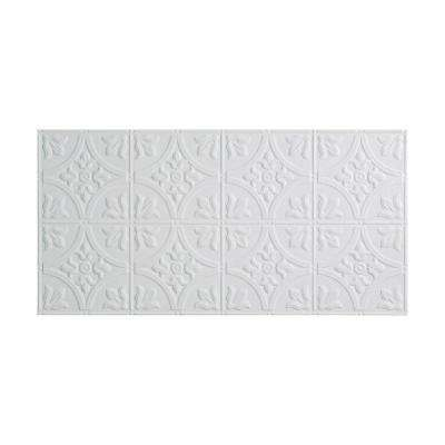 Traditional 2 - 2 ft. x 4 ft. Glue-Up Ceiling Tile in Gloss White