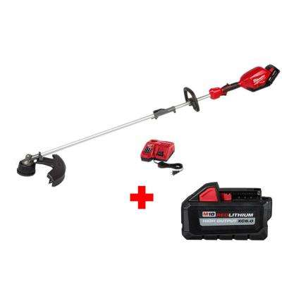M18 FUEL 18-Volt Lithium-Ion Brushless Cordless String Trimmer w/ QUIK-LOK Attachment Capability W/ 9Ah & 6Ah Battery