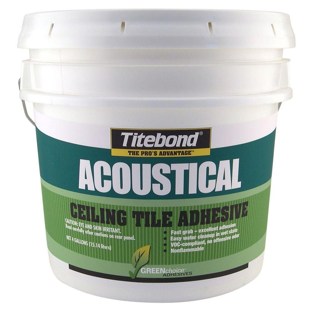 Titebond 4 gal. Greenchoice Acoustical Ceiling Tile Adhesive