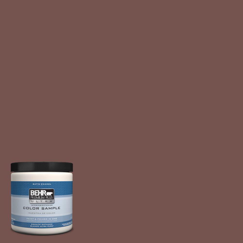 Ideal BEHR Premium Plus Ultra 8 oz. #PPU2-20 Oxblood Interior/Exterior  RQ46