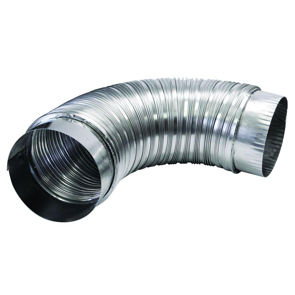 4 in. x 2 ft. Semi-Rigid Aluminum Duct with Collars