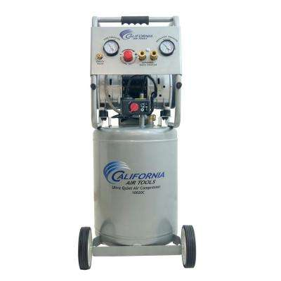 10 gal. 2.0 HP Ultra Quiet and Oil-Free 220-Volt Electric Air Compressor with Auto Drain Valve
