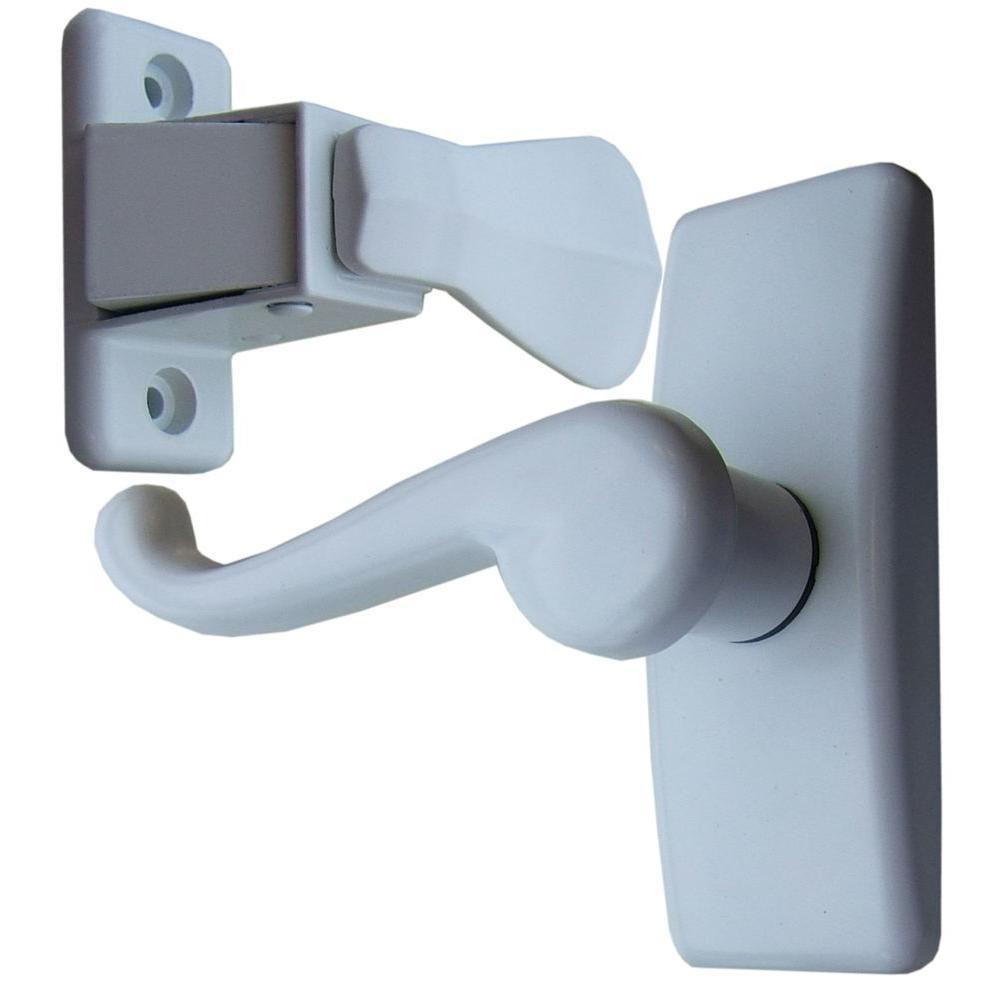 Painted White Storm Door Lever Handle Set