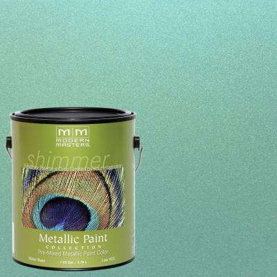 1 gal. Teal Metallic Interior/Exterior Paint