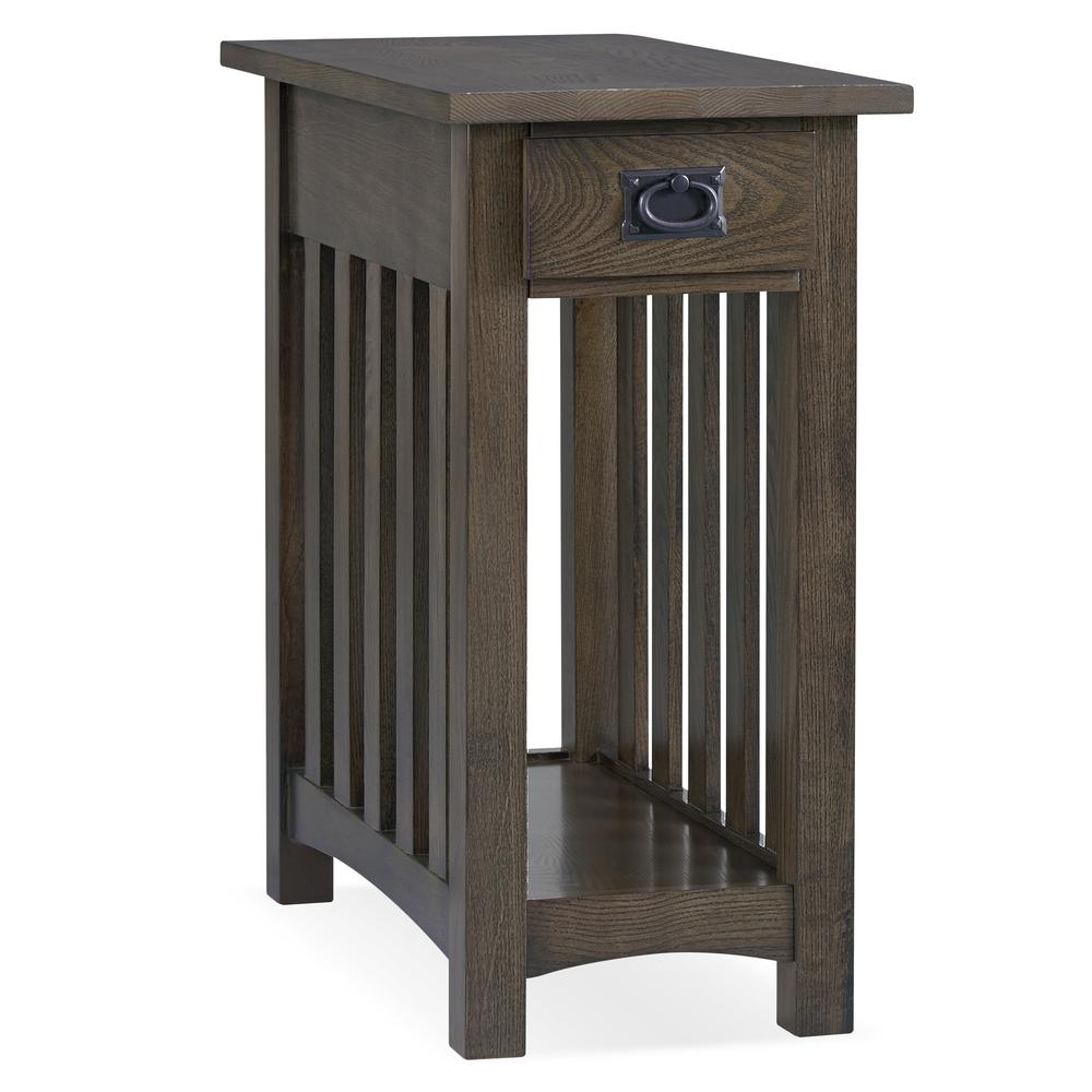 Leick Home 6 in. W x 6.6 in. D Mission Impeccable Side table in Dark  Earth Brown-6-DE - The Home Depot