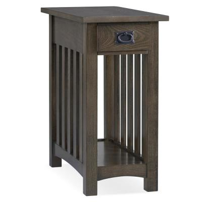 12 in. W x 22.5 in. D Mission Impeccable Side table in Dark Earth Brown
