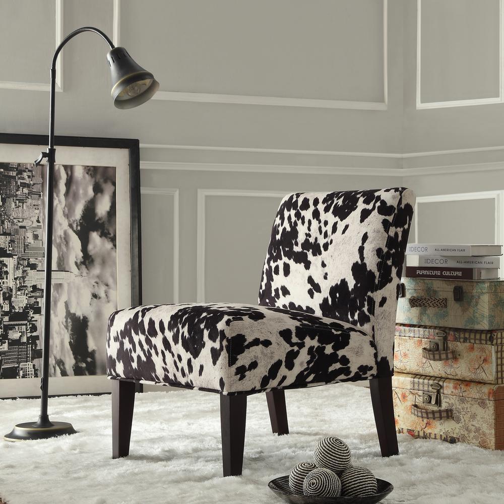 HomeSullivan Black Cowhide Accent Chair 40468F24S3A