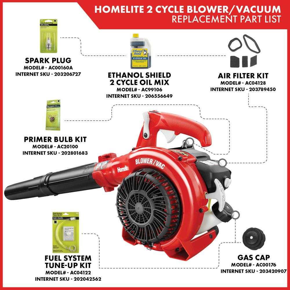 Homelite 150 Mph 400 Cfm 26cc Gas Handheld Blower Vacuum Ut26hbv The Home Depot