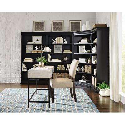Louis Philippe Modular Black Corner Open Bookcase