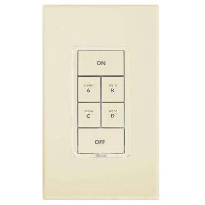 6 Button Dimmer Keypad - Ivory