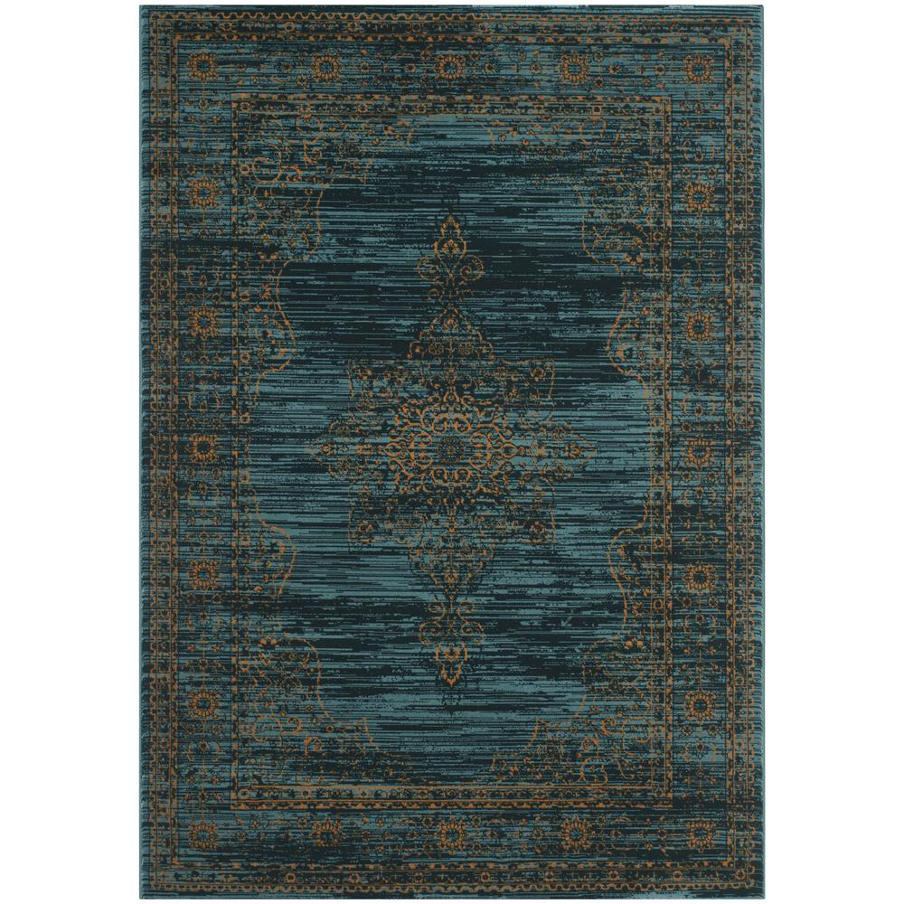 Safavieh Wyndham Turquoise Green 8 Ft X 10 Ft Area Rug: Safavieh Serenity Turquoise/Gold 8 Ft. X 10 Ft. Area Rug