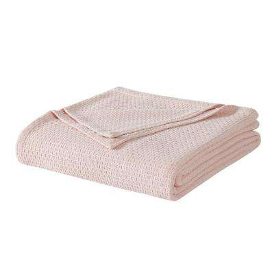 Cotton Pink Twin Blanket