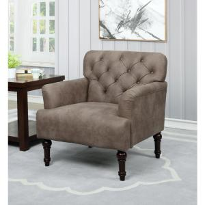 Fabulous Furniture Of America Danelle Brown Faux Leather Upholstery Theyellowbook Wood Chair Design Ideas Theyellowbookinfo