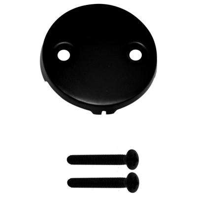Universal 2-Hole Overflow Faceplate, Matte Black