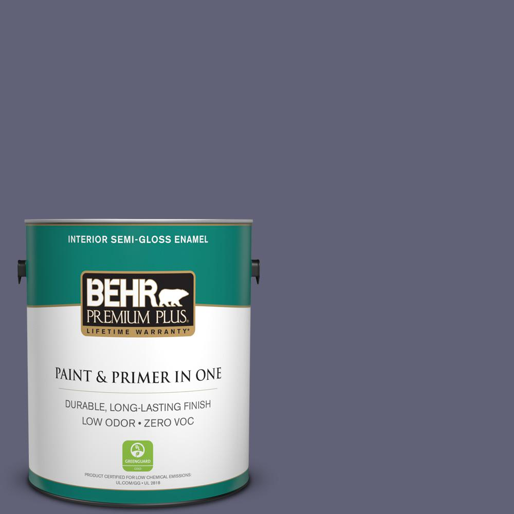 BEHR Premium Plus 1-gal. #620F-6 Purple Orchid Zero VOC Semi-Gloss Enamel Interior Paint