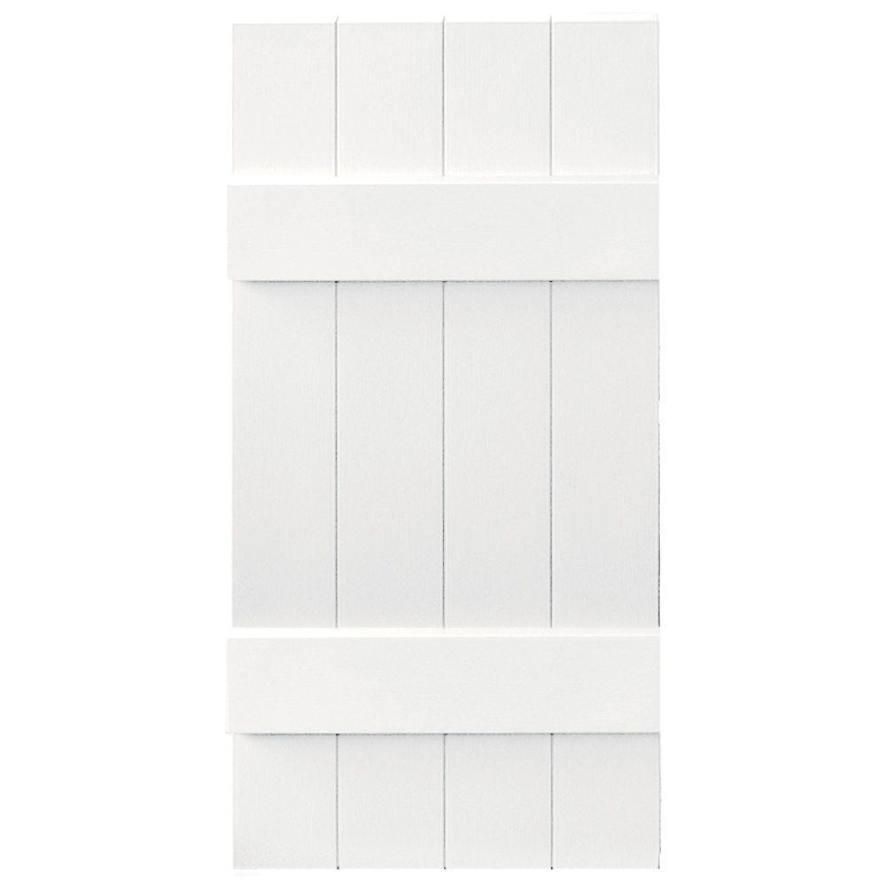 14 in. x 31 in. Board-N-Batten Shutters Pair, 4 Boards Joined