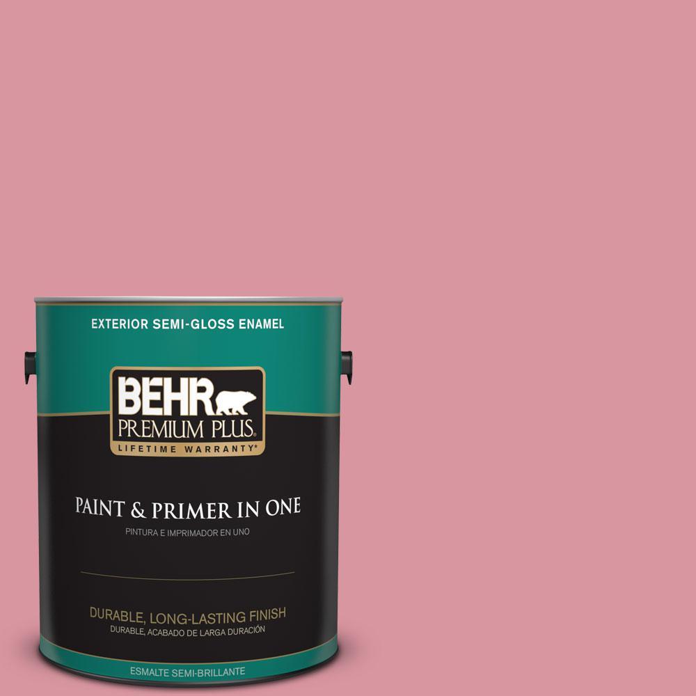 1-gal. #M150-4 Glow Pink Semi-Gloss Enamel Exterior Paint