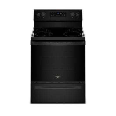 5.3 cu. ft. Freestanding Electric Range with Adjustable Self-Cleaning in Black