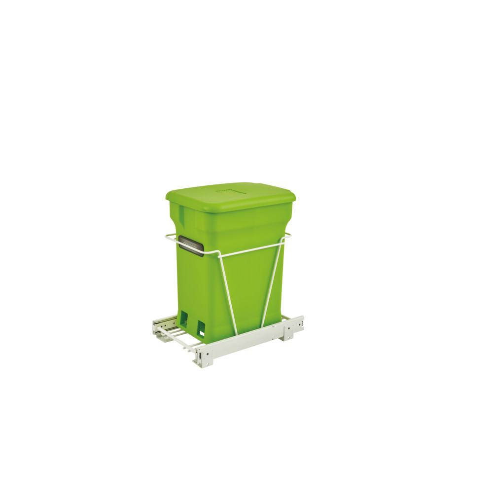 Rev A Shelf Rv 1216cp 1 Pullout Compost Container In White