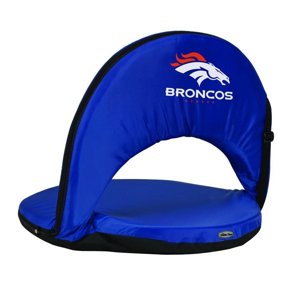 Oniva Denver Broncos Navy Patio Sports Chair with Digital Logo