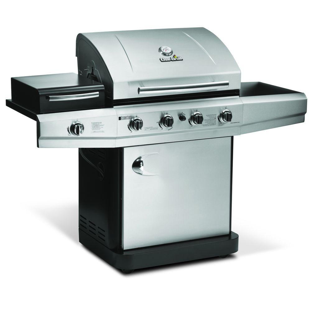 Char-Broil 4-Burner Propane Gas Grill with Outdoor Stove Side Burner-DISCONTINUED