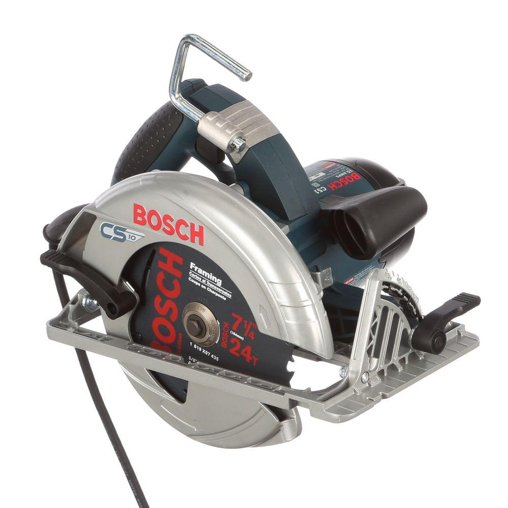 Bosch 15 amp 7 14 in corded circular saw with 24 tooth carbide corded circular saw with 24 greentooth