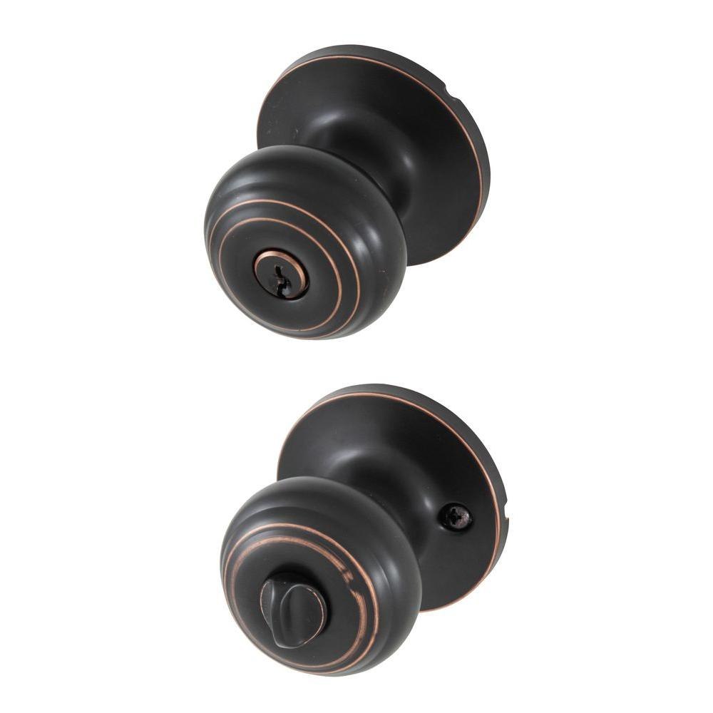 Honeywell Classic Oil Rubbed Bronze Entry Door Knob 8101401 The Home Depot