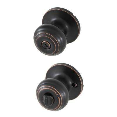 Classic Oil Rubbed Bronze Entry Door Knob