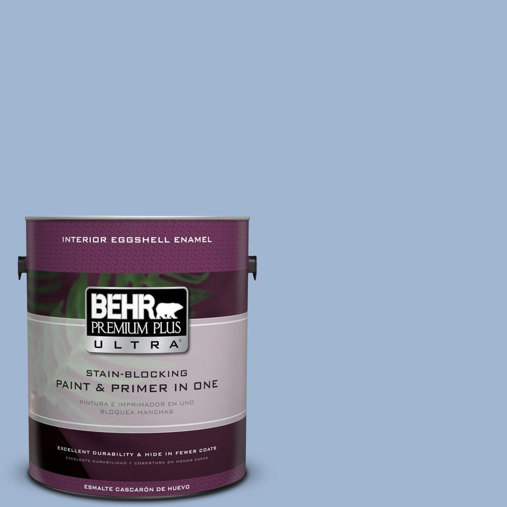 BEHR Premium Plus Ultra 1-gal. #PPU14-10 Blue Suede Eggshell Enamel Interior Paint