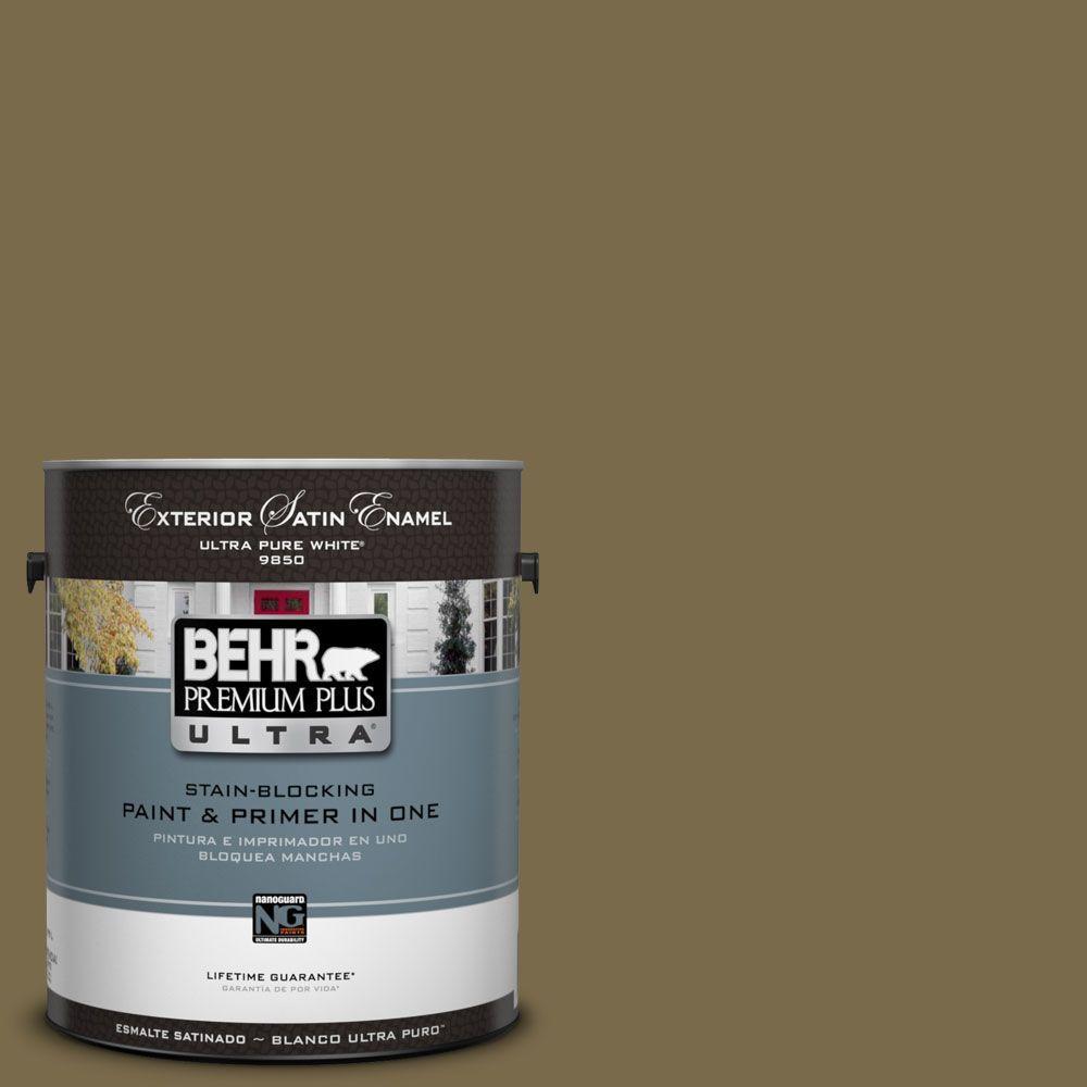 BEHR Premium Plus Ultra 1-Gal. #UL190-22 Olive (Green) Sa...