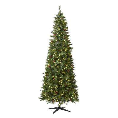 9 ft Alexander Pine Pre-Lit LED Artificial Christmas Tree with 650 SureBright Warm White Lights