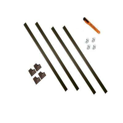 60 in. x 60 in. Cherry Walnut Contemporary Complete Installation Kit