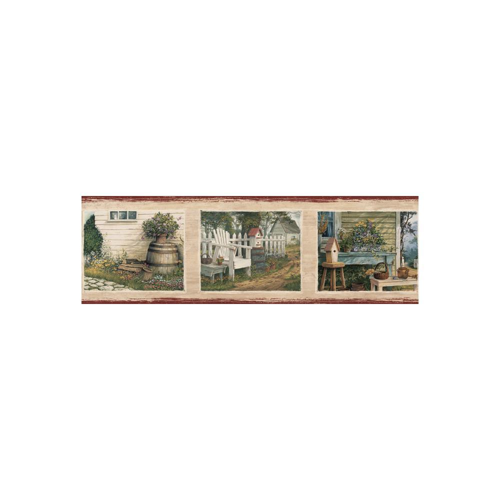 Yardley Red Bucks Country Portrait Wallpaper Border Sample